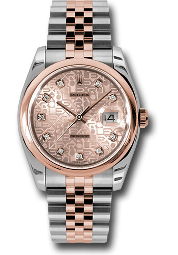 Rolex Watches - Datejust 36mm - Steel and Gold Pink Gold - Domed Bezel - Jubilee - Style No: 116201 chjdj