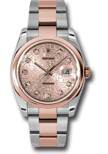 Rolex Watches - Datejust 36mm - Steel and Gold Pink Gold - Domed Bezel - Oyster - Style No: 116201 chjdo