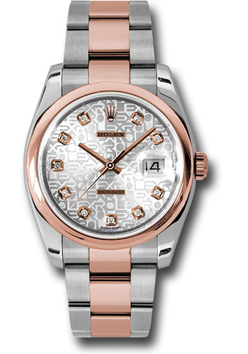 Rolex Watches - Datejust 36mm - Steel and Gold Pink Gold - Domed Bezel - Oyster - Style No: 116201 sjdo