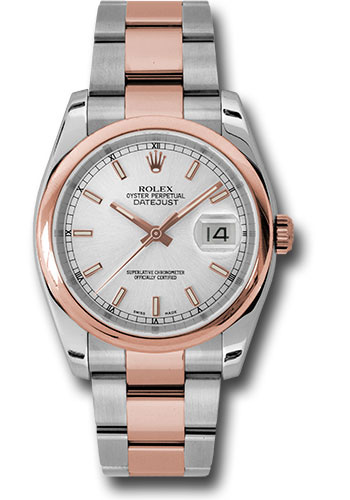 Rolex Watches - Datejust 36mm - Steel and Gold Pink Gold - Domed Bezel - Oyster - Style No: 116201 sso