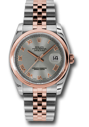 Rolex Watches - Datejust 36 Steel and Pink Gold - Domed Bezel - Jubilee - Style No: 116201 strj