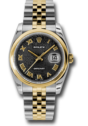 Rolex Watches - Datejust 36 Steel and Yellow Gold - Domed Bezel - Jubilee - Style No: 116203 bkjrj