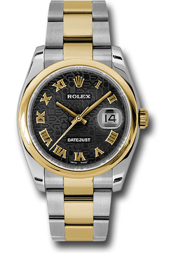 Rolex Watches - Datejust 36 Steel and Yellow Gold - Domed Bezel - Oyster - Style No: 116203 bkjro