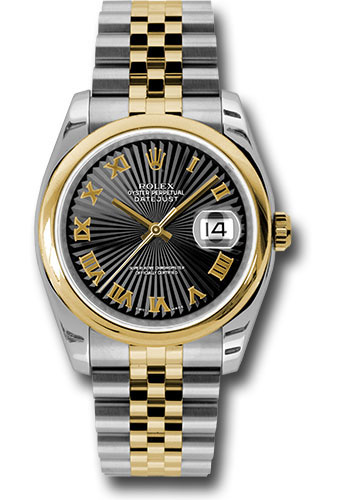 Rolex Watches - Datejust 36 Steel and Yellow Gold - Domed Bezel - Jubilee - Style No: 116203 bksbrj