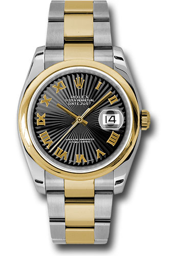 Rolex Watches - Datejust 36 Steel and Yellow Gold - Domed Bezel - Oyster - Style No: 116203 bksbro