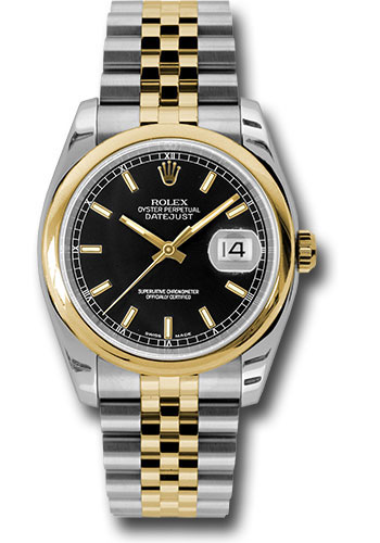 Rolex Watches - Datejust 36 Steel and Yellow Gold - Domed Bezel - Jubilee - Style No: 116203 bksj