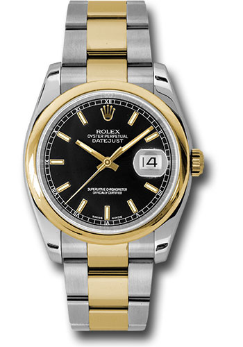 Rolex Watches - Datejust 36 Steel and Yellow Gold - Domed Bezel - Oyster - Style No: 116203 bkso