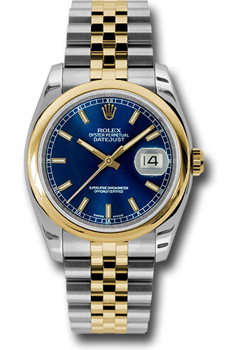 Rolex Watches - Datejust 36 Steel and Yellow Gold - Domed Bezel - Jubilee - Style No: 116203 blsj