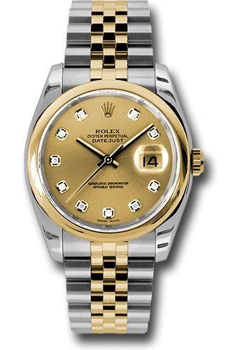 Rolex Watches - Datejust 36 Steel and Yellow Gold - Domed Bezel - Jubilee - Style No: 116203 chdj