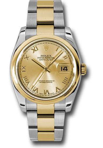Rolex Watches - Datejust 36 Steel and Yellow Gold - Domed Bezel - Oyster - Style No: 116203 chro
