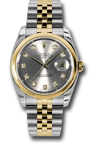 Rolex Watches - Datejust 36 Steel and Yellow Gold - Domed Bezel - Jubilee - Style No: 116203 gdj