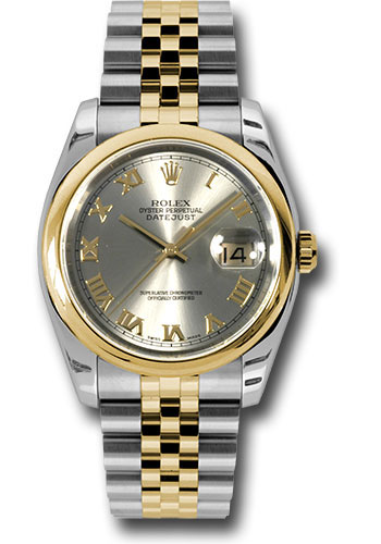 Rolex Watches - Datejust 36 Steel and Yellow Gold - Domed Bezel - Jubilee - Style No: 116203 grj