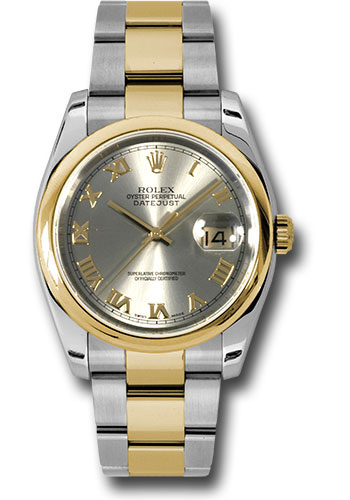 Rolex Watches - Datejust 36 Steel and Yellow Gold - Domed Bezel - Oyster - Style No: 116203 gro
