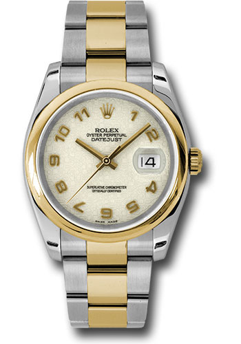Rolex Watches - Datejust 36 Steel and Yellow Gold - Domed Bezel - Oyster - Style No: 116203 ijao