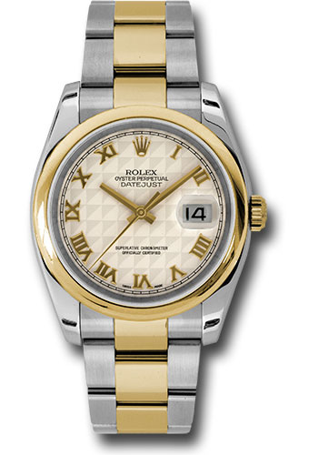 Rolex Watches - Datejust 36 Steel and Yellow Gold - Domed Bezel - Oyster - Style No: 116203 ipro
