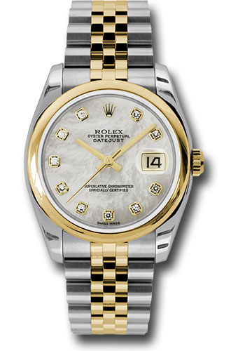 Rolex Watches - Datejust 36 Steel and Yellow Gold - Domed Bezel - Jubilee - Style No: 116203 mdj