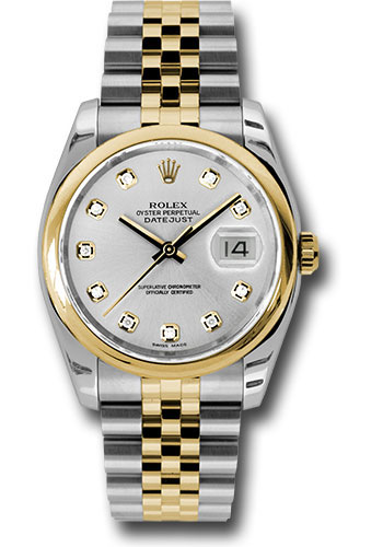 Rolex Watches - Datejust 36 Steel and Yellow Gold - Domed Bezel - Jubilee - Style No: 116203 sdj