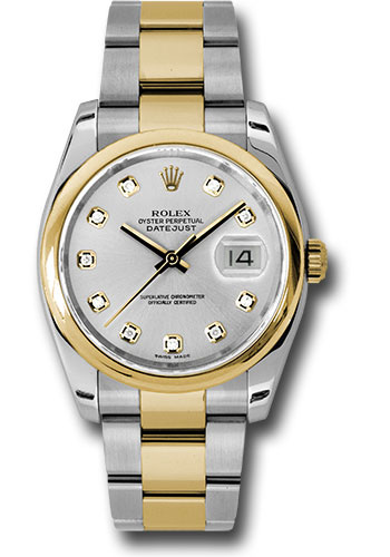 Rolex Watches - Datejust 36 Steel and Yellow Gold - Domed Bezel - Oyster - Style No: 116203 sdo