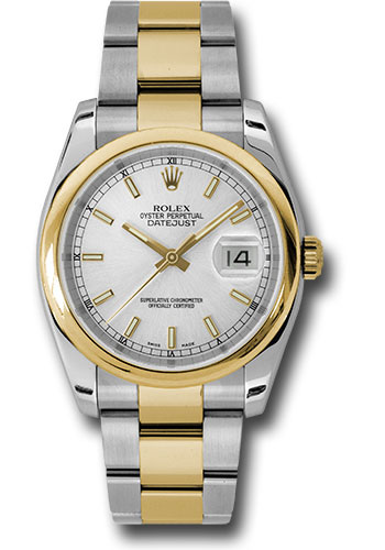 Rolex Watches - Datejust 36 Steel and Yellow Gold - Domed Bezel - Oyster - Style No: 116203 sso