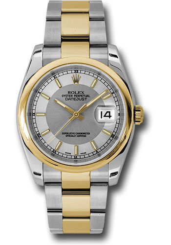 Rolex Watches - Datejust 36 Steel and Yellow Gold - Domed Bezel - Oyster - Style No: 116203 stsiso