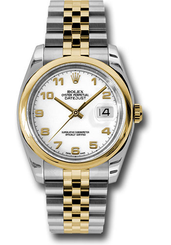 Rolex Watches - Datejust 36 Steel and Yellow Gold - Domed Bezel - Jubilee - Style No: 116203 waj