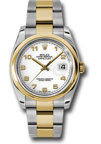 Rolex Watches - Datejust 36 Steel and Yellow Gold - Domed Bezel - Oyster - Style No: 116203 wao