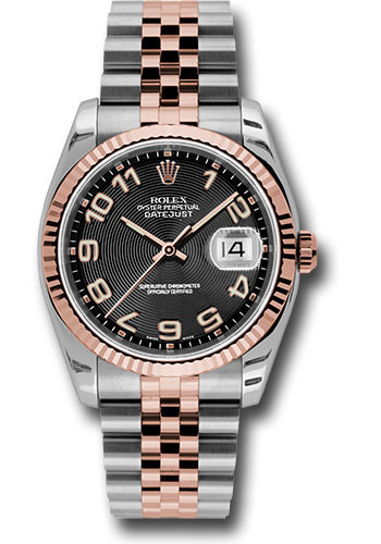 Rolex Watches - Datejust 36mm - Steel and Gold Pink Gold - Fluted Bezel - Jubilee - Style No: 116231 bkcaj