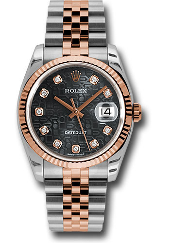 Rolex Watches - Datejust 36 Steel and Pink Gold - Fluted Bezel - Jubilee - Style No: 116231 bkjdj