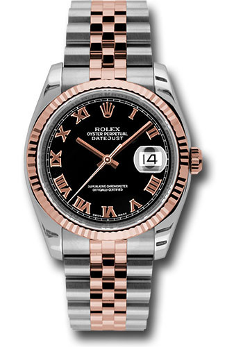 Rolex Watches - Datejust 36 Steel and Pink Gold - Fluted Bezel - Jubilee - Style No: 116231 bkrj