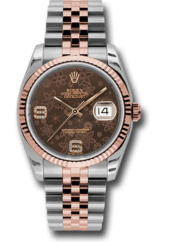 Rolex Watches - Datejust 36mm - Steel and Gold Pink Gold - Fluted Bezel - Jubilee - Style No: 116231 brfdaj