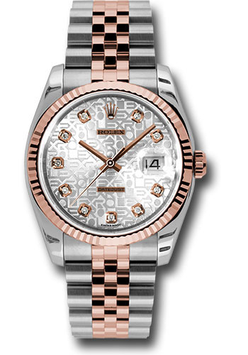 Rolex Watches - Datejust 36mm - Steel and Gold Pink Gold - Fluted Bezel - Jubilee - Style No: 116231 sjdj