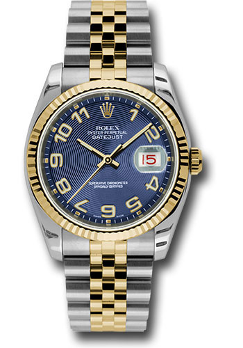 Rolex Watches - Datejust 36mm - Steel and Gold Yellow Gold - Fluted Bezel - Jubilee - Style No: 116233 blcaj
