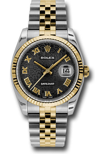 Rolex Watches - Datejust 36 Steel and Yellow Gold - Fluted Bezel - Jubilee - Style No: 116233 bkjrj