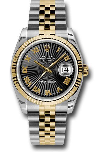 Rolex Watches - Datejust 36 Steel and Yellow Gold - Fluted Bezel - Jubilee - Style No: 116233 bksbrj