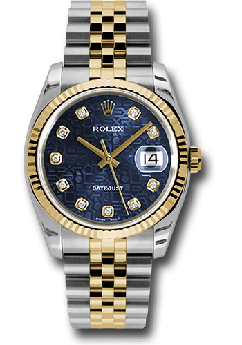 Rolex Watches - Datejust 36 Steel and Yellow Gold - Fluted Bezel - Jubilee - Style No: 116233 bljdj
