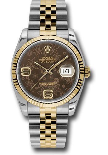 Rolex Watches - Datejust 36 Steel and Yellow Gold - Fluted Bezel - Jubilee - Style No: 116233 brfaj