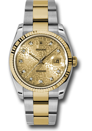 Rolex Watches - Datejust 36 Steel and Yellow Gold - Fluted Bezel - Oyster - Style No: 116233 chjdo