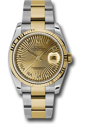 Rolex Watches - Datejust 36 Steel and Yellow Gold - Fluted Bezel - Oyster - Style No: 116233 chsbro