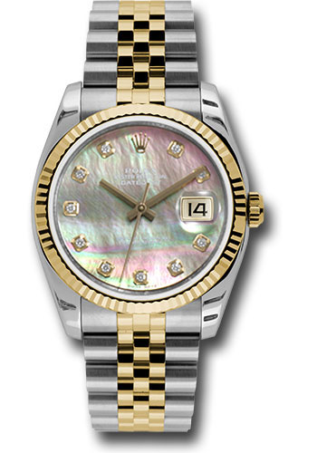 Rolex Watches - Datejust 36mm - Steel and Gold Yellow Gold - Fluted Bezel - Jubilee - Style No: 116233 dkmdj