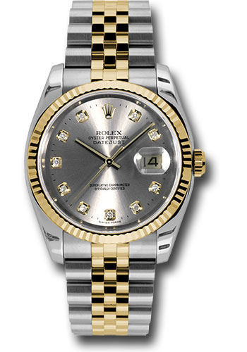 Rolex Watches - Datejust 36 Steel and Yellow Gold - Fluted Bezel - Jubilee - Style No: 116233 gdj