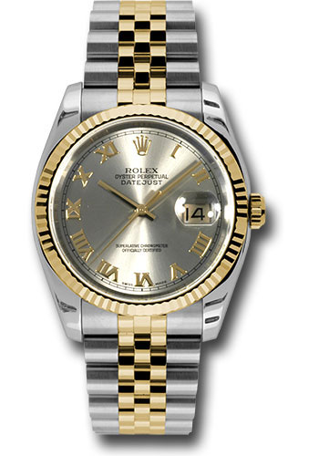 Rolex Watches - Datejust 36 Steel and Yellow Gold - Fluted Bezel - Jubilee - Style No: 116233 grj
