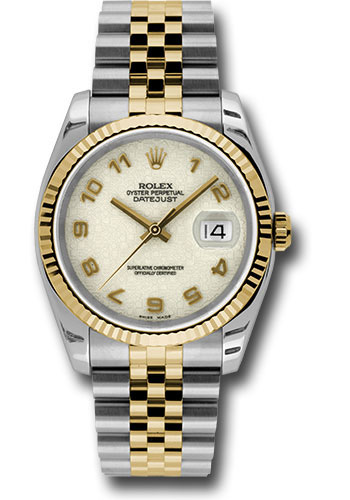 Rolex Watches - Datejust 36mm - Steel and Gold Yellow Gold - Fluted Bezel - Jubilee - Style No: 116233 ijaj