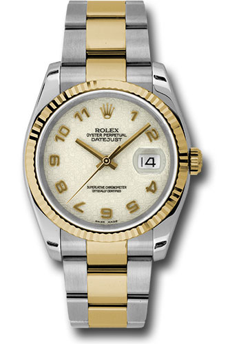 Rolex Watches - Datejust 36 Steel and Yellow Gold - Fluted Bezel - Oyster - Style No: 116233 ijao