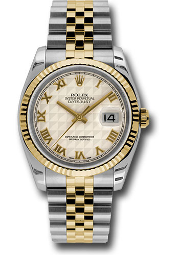 Rolex Watches - Datejust 36 Steel and Yellow Gold - Fluted Bezel - Jubilee - Style No: 116233 iprj