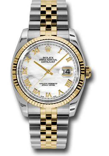 Rolex Watches - Datejust 36 Steel and Yellow Gold - Fluted Bezel - Jubilee - Style No: 116233 mrj