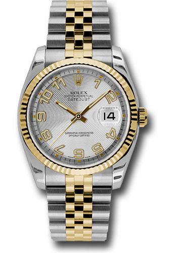 Rolex Watches - Datejust 36mm - Steel and Gold Yellow Gold - Fluted Bezel - Jubilee - Style No: 116233 scaj