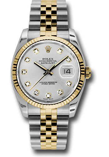 Rolex Watches - Datejust 36 Steel and Yellow Gold - Fluted Bezel - Jubilee - Style No: 116233 sdj