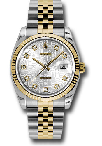 Rolex Watches - Datejust 36mm - Steel and Gold Yellow Gold - Fluted Bezel - Jubilee - Style No: 116233 sjdj