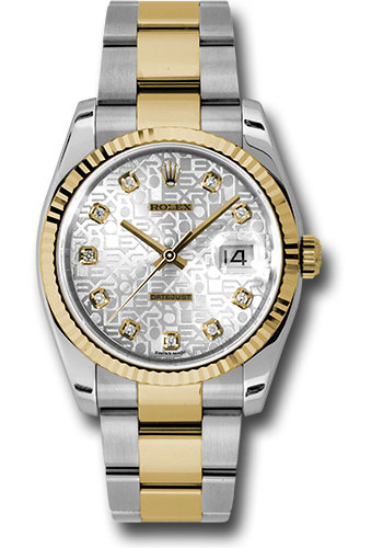 Rolex Watches - Datejust 36mm - Steel and Gold Yellow Gold - Fluted Bezel - Oyster - Style No: 116233 sjdo