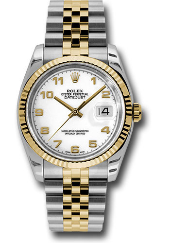 Rolex Watches - Datejust 36 Steel and Yellow Gold - Fluted Bezel - Jubilee - Style No: 116233 waj